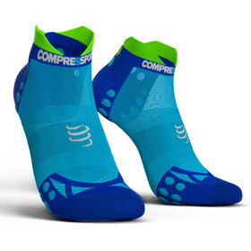 Compressport Pro Racing V3.0 UItralight Run Low Strømper, fluo blue